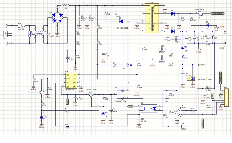 [DIAGRAM_38IU]  PMP6023 25W, 100-264VAC Input, 0-10V Dimmable LED Driver for Downlights,  Troffers and Modules | TI.com | Led Dimming Driver Wiring Diagram Free Download |  | Texas Instruments