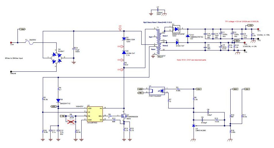 PMP9638 Flyback with Universal Input (85 - 264Vac), Dual ... on power schematic, nautilus schematic, audio schematic, capacitor schematic,