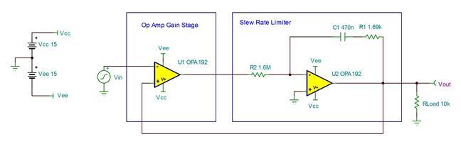 tipd140 single op amp slew rate limiter reference design ti com rh ti com LM7805 Voltage Regulator Circuit Voltage Regulator Circuit