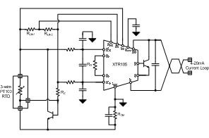 tipd analog linearized wire pt rtd to wire ma schematic block diagram
