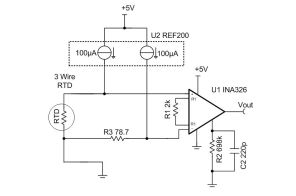 tipd rtd to voltage reference design using instrumentation schematic block diagram