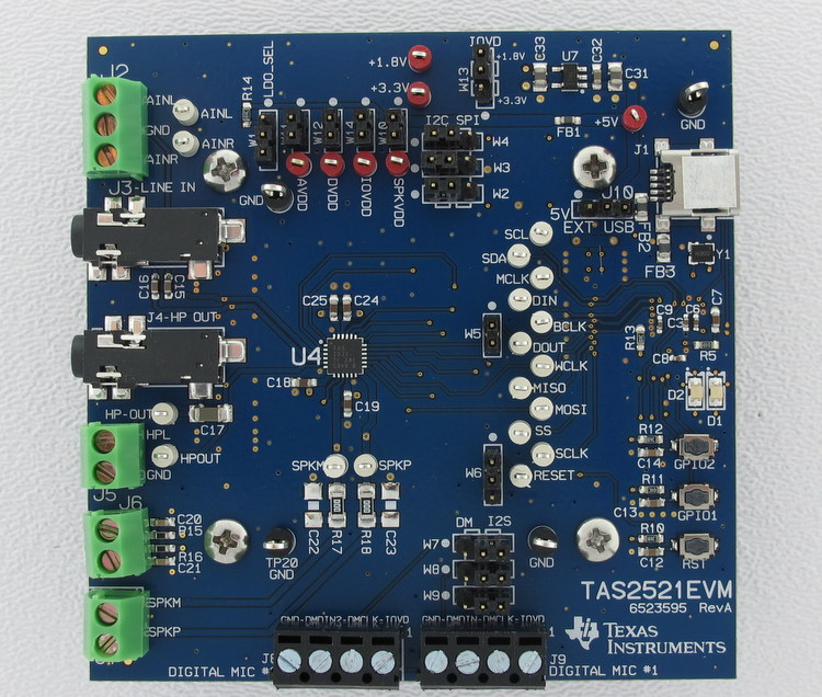 TAS2521EVM-TAS2521 Evaluation Module - TI store image