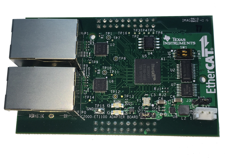 TIDM-DELFINO-ETHERCAT reference design from Texas Instruments
