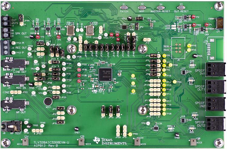 TLV320AIC3268EVM-U-TLV320AIC3268EVM-U Ultra Low Power Audio Codec Evaluation Module - TI store image