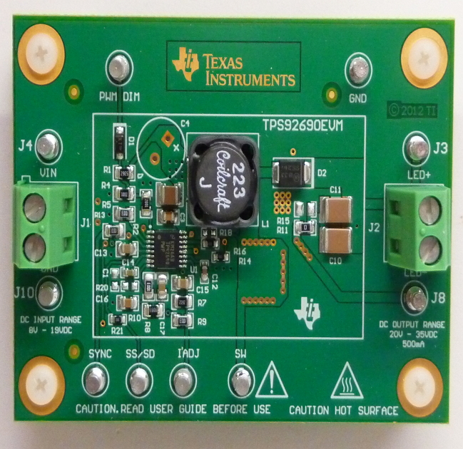 TPS92690EVM-N-Channel Controller for Dimmable LED Drives with Low-Side Current Sense Evaluation Module Board - TI store image