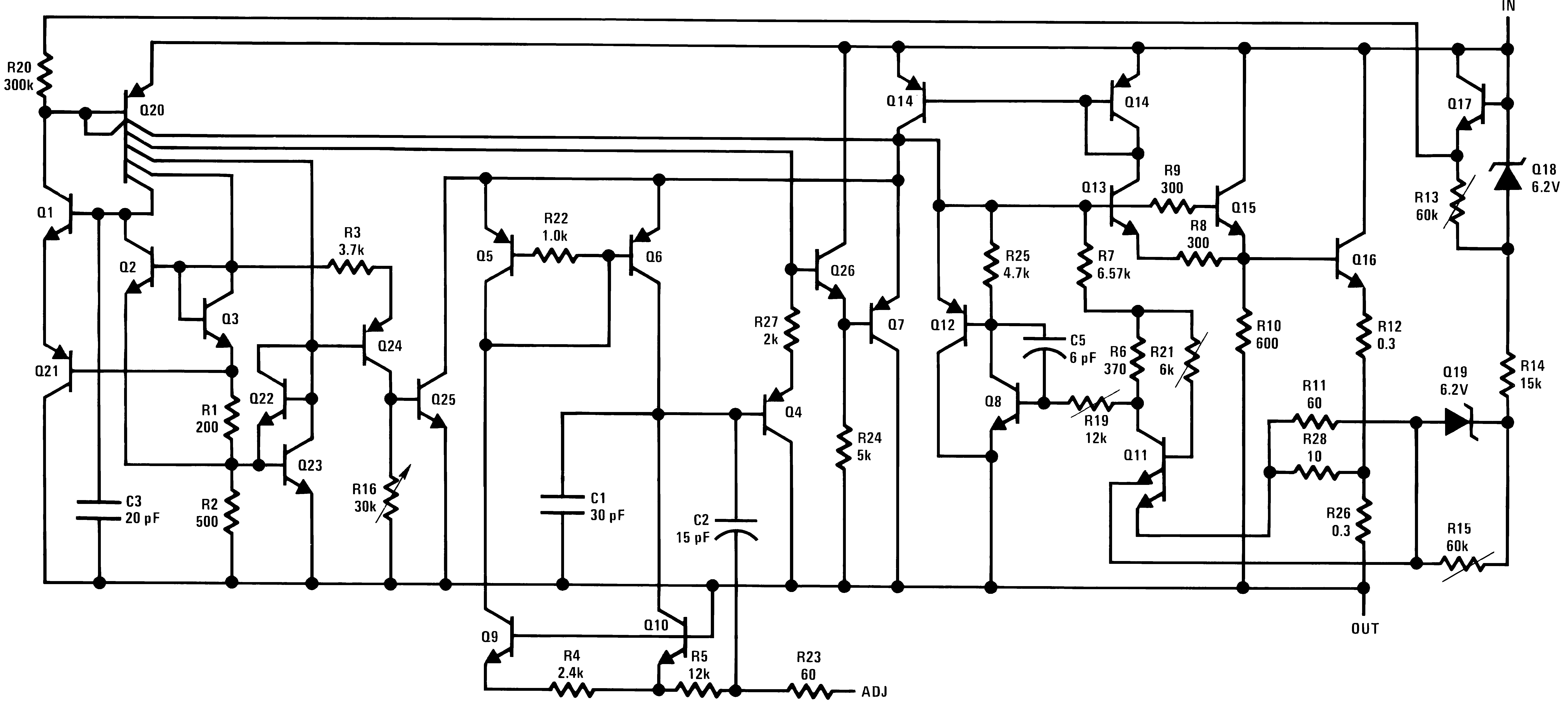 Lm317l N 100ma 40v Input Adjustable Linear Regulator Picture Of Variable Voltage Filtered Power Supply Diagram