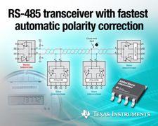 德州仪器推出支持最快自动极性校正的 RS-485 收发器