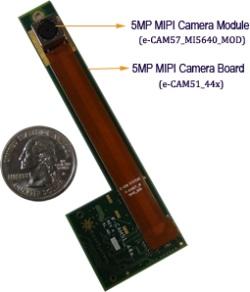 e-CAM51_44x - 5MP MIPI Camera board for TI's OMAP 4 Processors