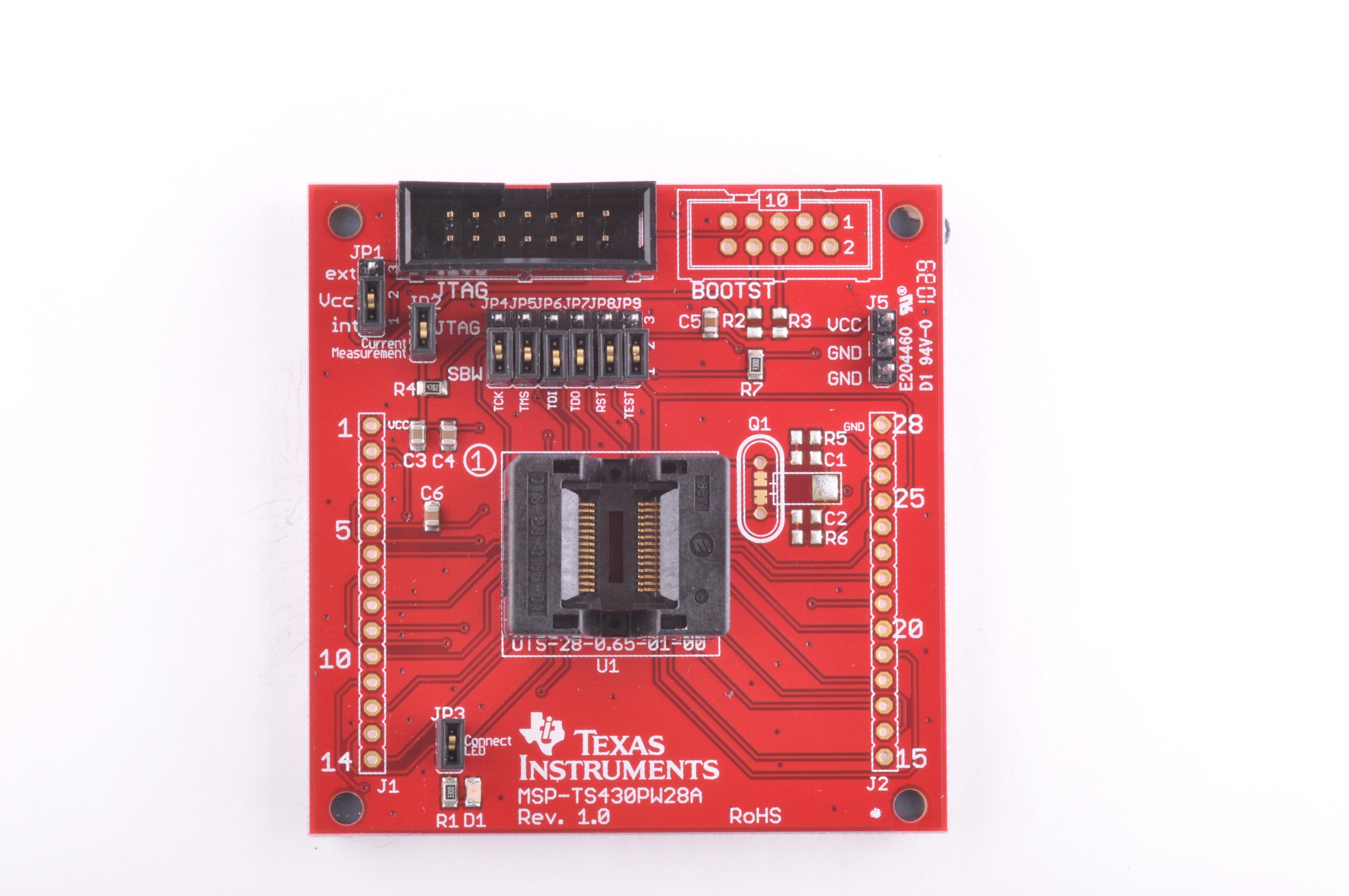 Msp Ts430pw28a 28 Pin Target Development Board For My Jfet Quartz Oscillator Public Circuit Online Simulator Description