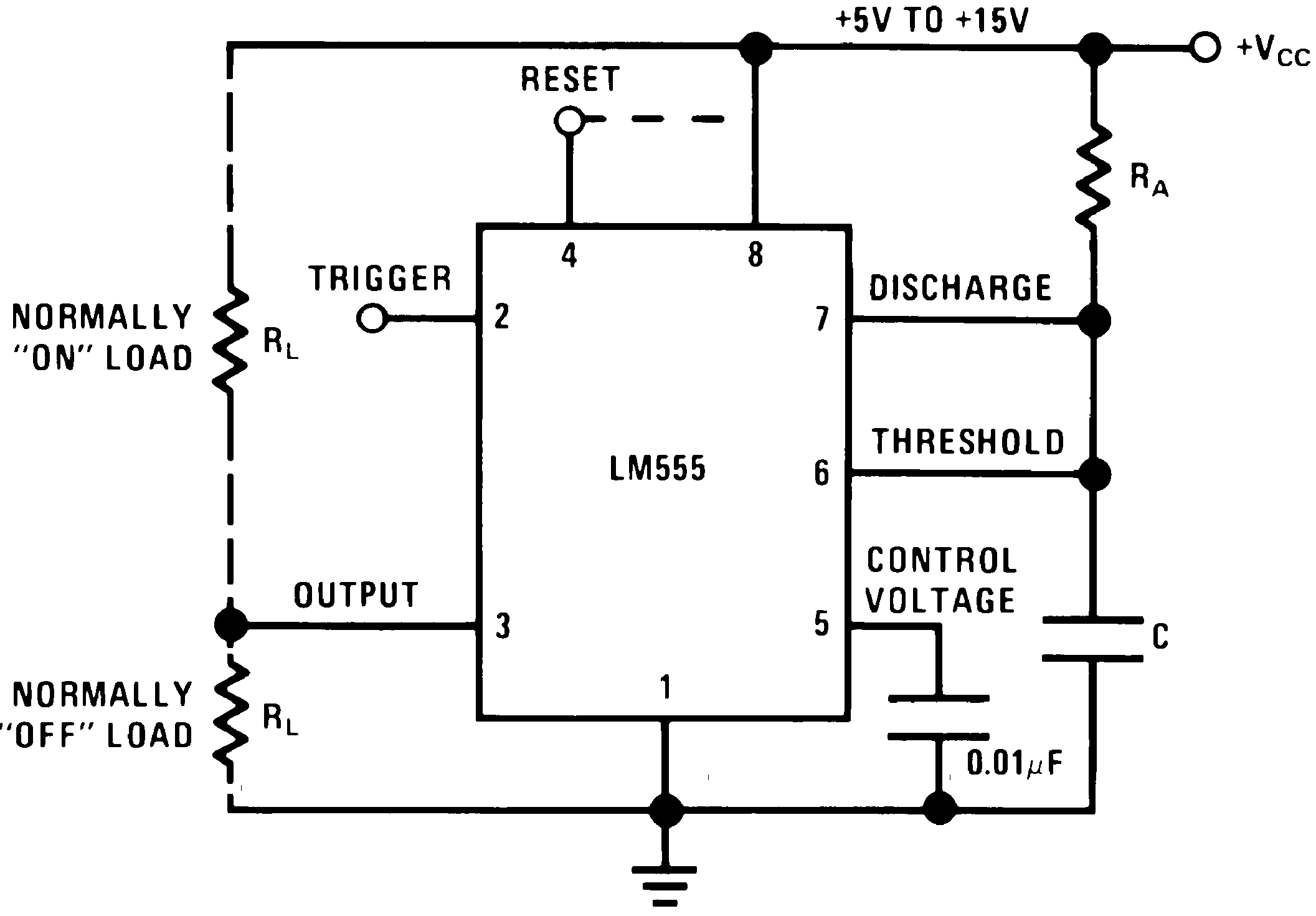LM555 datasheet Highly stable 555 timer for generating accurate ...