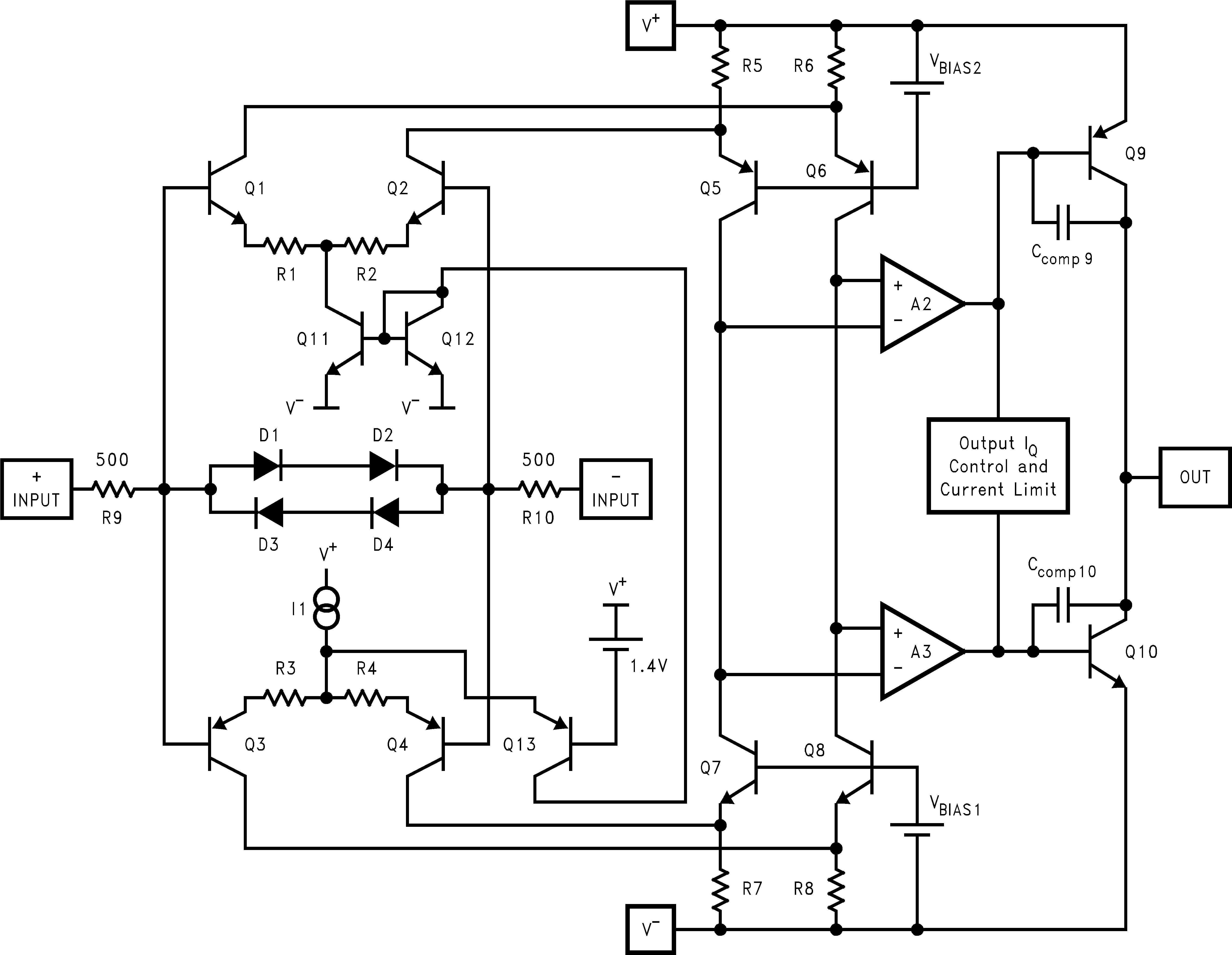 Lm8272 datasheet rrio high output current unlimited cap load op lm8272 10130870g figure 35 simplified schematic diagram pooptronica Images