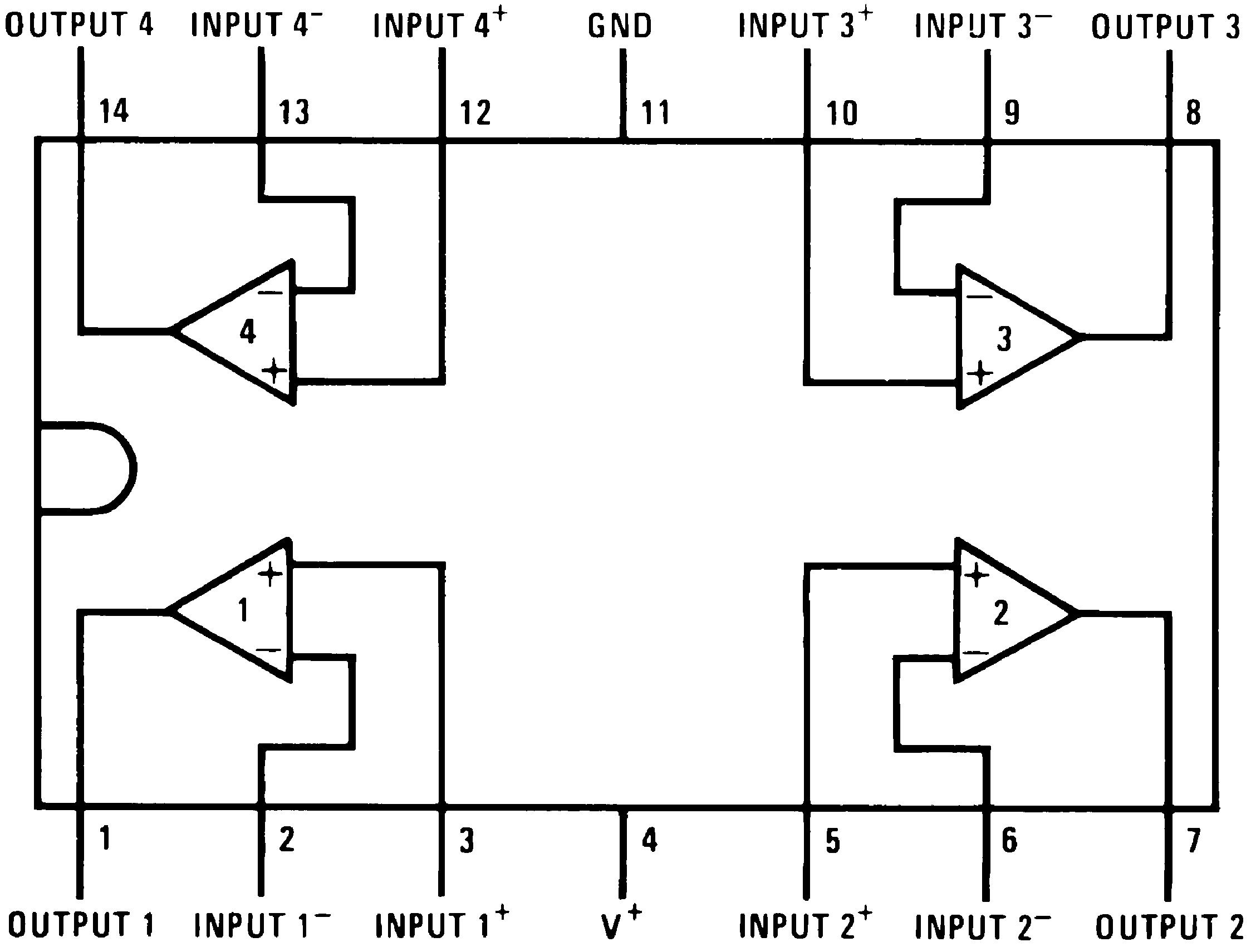 lm324n pin diagram datasheet   28 wiring diagram images