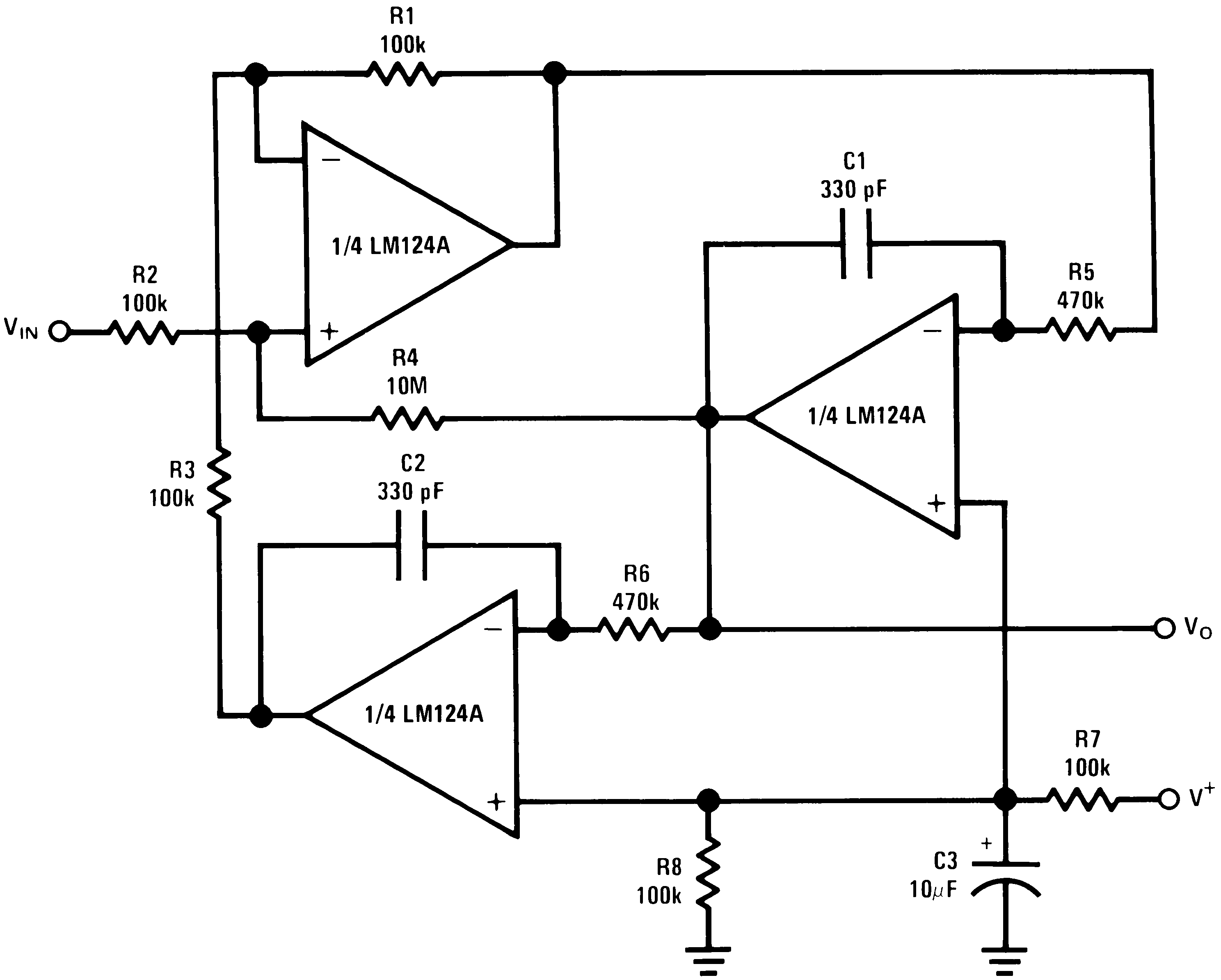 Lm224 N Operational Amplifiers Amplifier Online Datasheet Lm124 Lm2902 Lm324 Png. crossover circuit