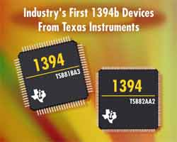 Industry's First 1394b Devices From Texas Instruments