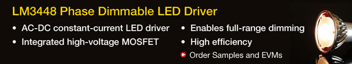 LM448 Phase Dimmable LED Driver - TI.com